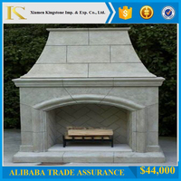 Hot Sale Cheap Price Beige Marble Fireplace KSFL181