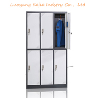 New simple design clothes locker different colour 2 tier 6 door changing room locker for sale stainless steel locker