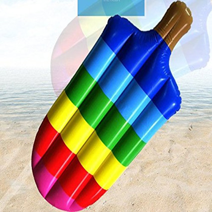 Inflatable Popsicle Shaped Floating Mat Swimming