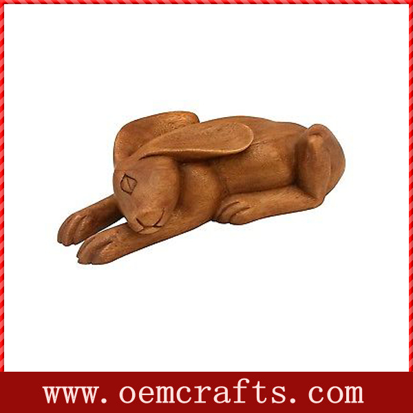 Timber Treasures Hand Carved Sleeping Hare