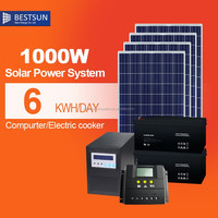 Hot sales 1000W solar generator with hybrid pure sine wave inverter solar power system and 1000 watt MPPT solar generator