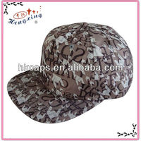 wholesale Custom flat bill printed Snapback Hats large in stock