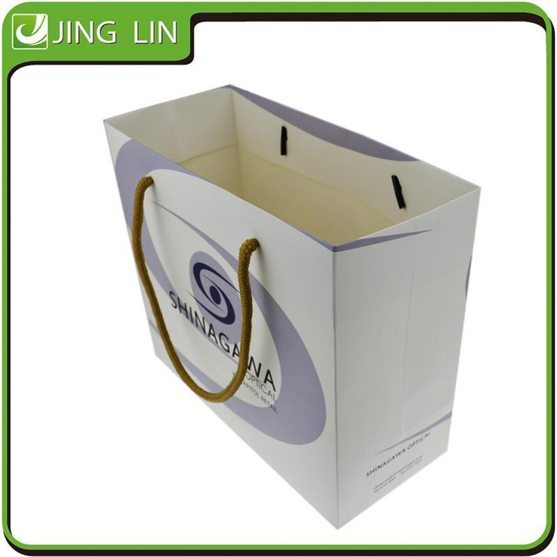 Professional flat handle recyclable paper bags wholesale