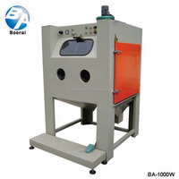 Wet sand blast cabinet / sandblasting machine / water used sandblasting equipment for sale