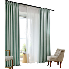 manual polyester window fabric curtain in Korea style