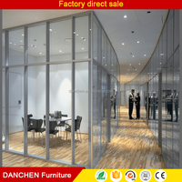 High Quality Floor To Ceiling Modern Demountable Laminated Glass Office Partitions