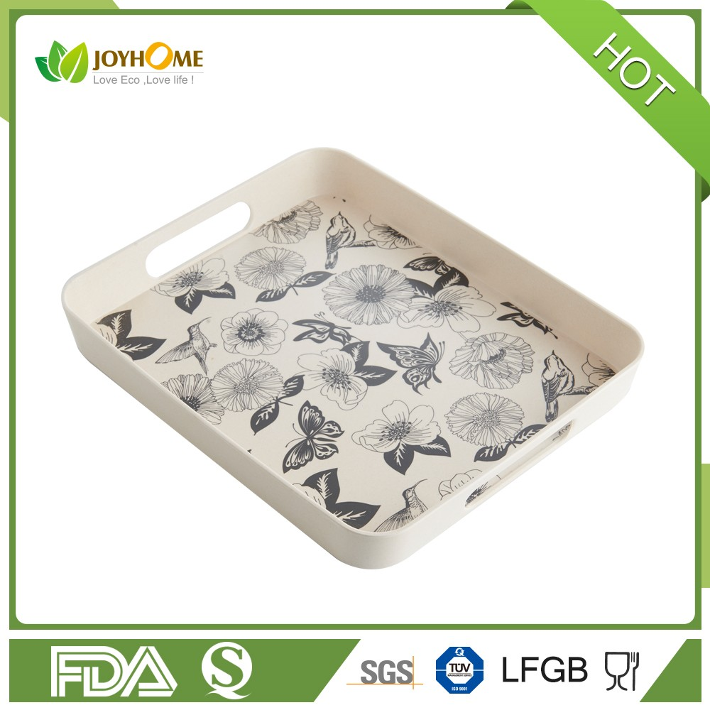 2017 New Design Bamboo Fibre Slate Serving Tray