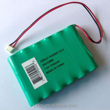 Nimh Rechargeable Battery Pack 7.2V 2500mah battery for power tools