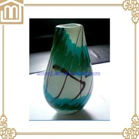 Professional handmade murano art table decoration big vase with low price