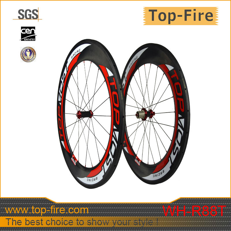 wide carbon wheels tubular Chinese carbon wheels ,carbon TT bicycle wheels