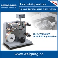 Labels slitter rewinder machine