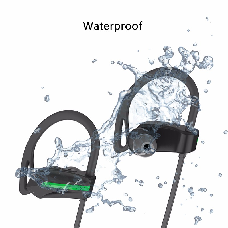 Best selling products 2017 in usa Showkoo Private label IPX7 Waterproof Wireless Sport Stereo Bluetooth Headphones for iPhone 8