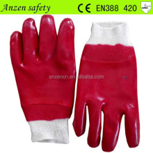 china factory cotton liner winter pvc glove for home work