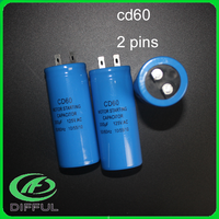 cd60 50/60Hz 140uf 250v ac blue 2pins motor electric starting capacitor