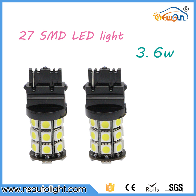 High brightness Auto lamp bulb 3.6w 27pcs SMD LED light brake /turning/parking light