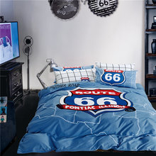 Reactive printing 200TC 40*40YC Cotton Bedding set sheet cover the mother road