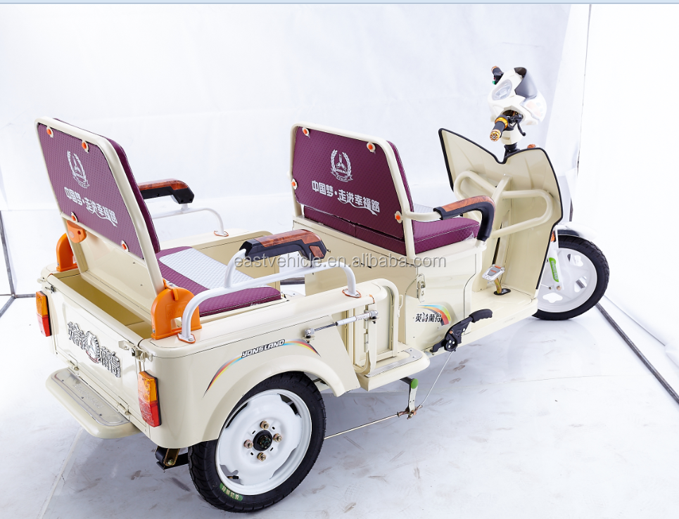 cargo and passenger double use Trike Scooter electric tricycle three wheel
