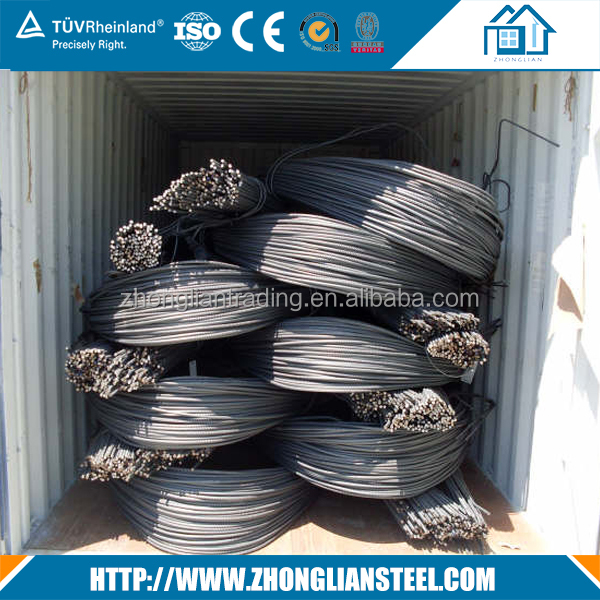 B500c bs4449 grade 500b steel rebars in bundles