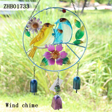 2016 high quality hanging metal bird design wind chime