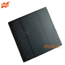 6V 500mA 3W 145*145*3mm PET Encapsulated Mini Solar Panel with Smooth or Frosted Surface