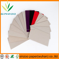 Chinese manufacturer top quality book binding grey hard board