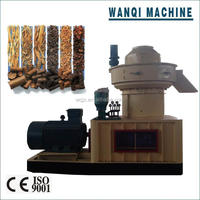 WANQI Brand Vertical Ring Die Wood Pellet Machine with Auto Lubrication System&organic fertilizer pellet machine