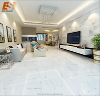 Wholesale FOSHAN 600X600mm full polished glazed porcelain White marble tile