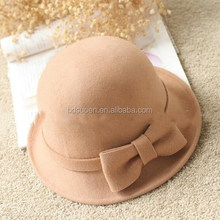 2017 Winter Lady Cloche Wool Felt Hat Camel Colour