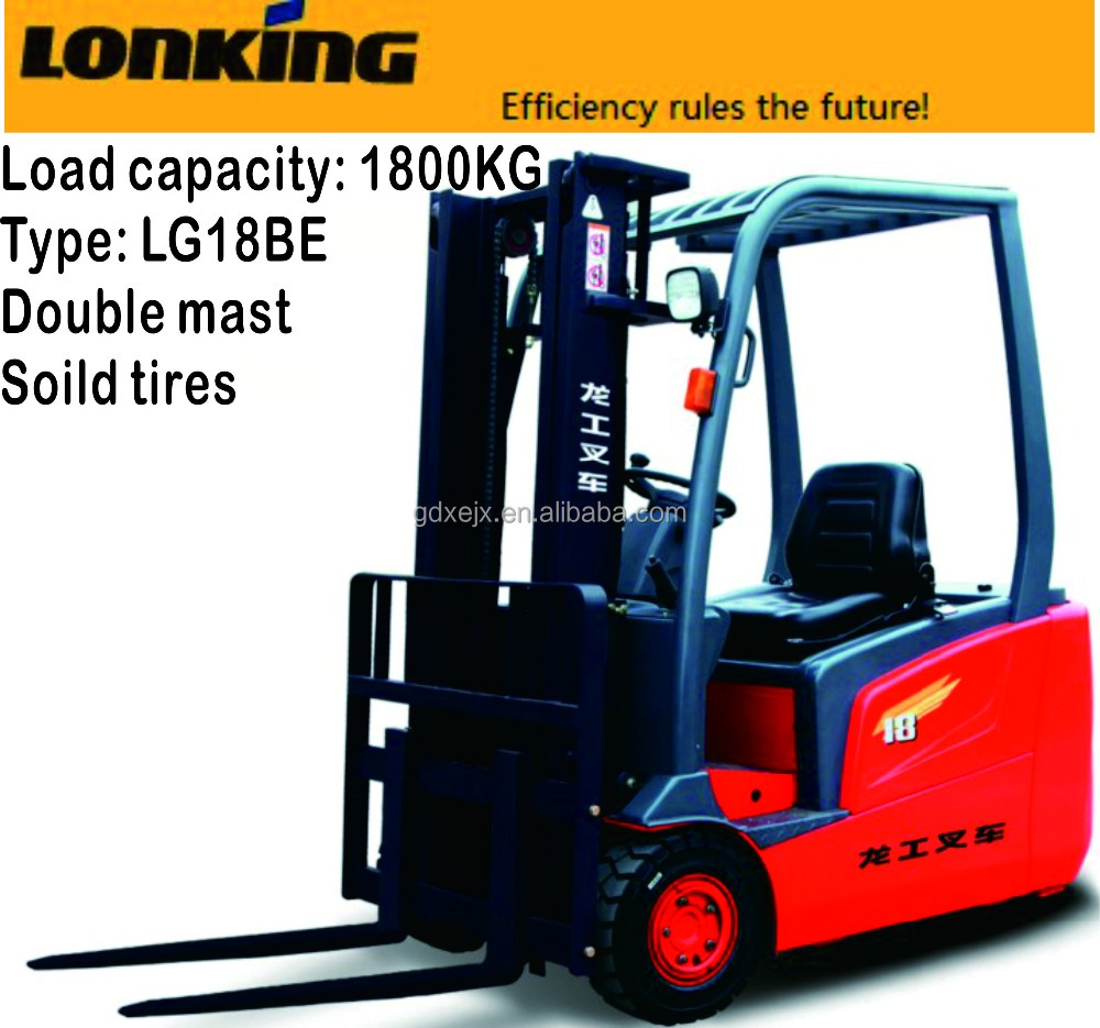 Lonking 1.8T Three-wheel Battery Counter-Balanced Forklift LG18BE