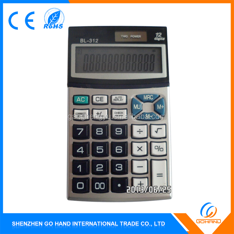 Best Quality Dual Power Desktop 12 Digits Calculator With Low Price