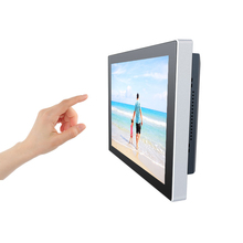 Wall mount touch screen all-in-one computer / thin client with win 7 OS