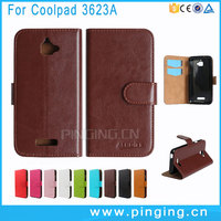 Book Style Design Wallet Flip Leather Case For Coolpad Catalyst 3623A Phone Credit Card Slot