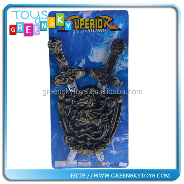 hot selling plastic shield toy shimedieval sword