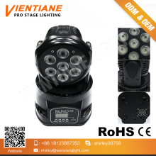 Stage light 7pcs*10w 4 IN1 LED moving head light/wedding decoration 7 pcs led aura RGBW moving head