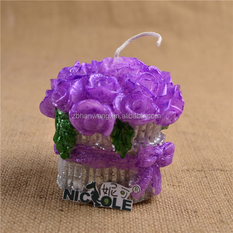 Roses Wedding Decorative Silicone Candle Mould