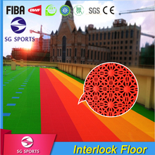 SG SPORTS PP material outdoor indoor suspended sports flooring kindergarten court