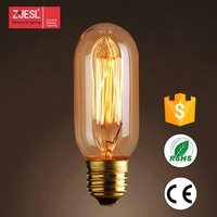 Best Price T45 25/40/60W 110-240V decoration Imitate Carbon Zstyle Filament bulb