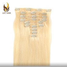 Best Sellers Aliexpress High Quality Soft Remy Blond Clip In Hair Extension For White Women