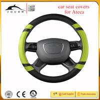 men fashion car PVC PU leather auto steering wheel cover for cadillac cts