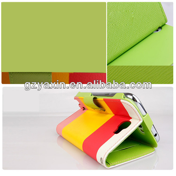 PU Flip Magnetic Leather Wallet Case For Samsung Galaxy Note2