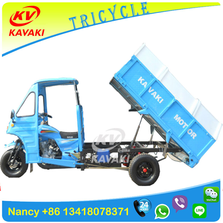 Hydraulic Dumper Three Wheeler Garbage Collection Tricycle with lifting tipping system Cargo tricycle