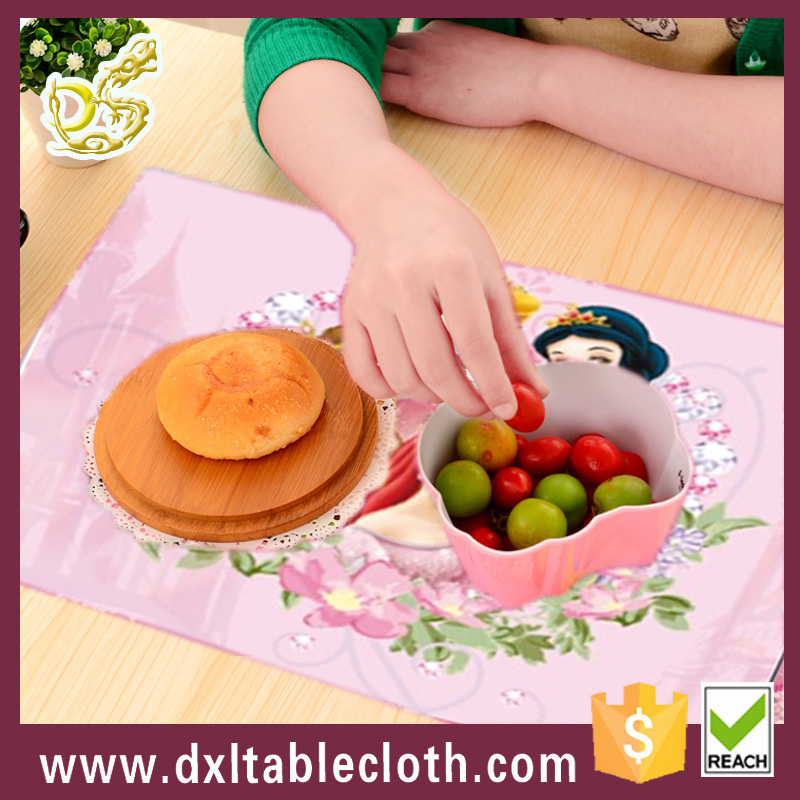 Custom printed Plastic Table Mat, 3D Lenticular Placemat, Disposable PP Placemats