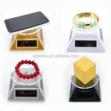 Solar Powered Rotating Jewelry CellPhone Display Turntable