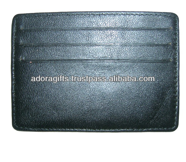 ADACCC - 0100 leather cute name card holder / customized hot style design card holder / promotional leather card holders name