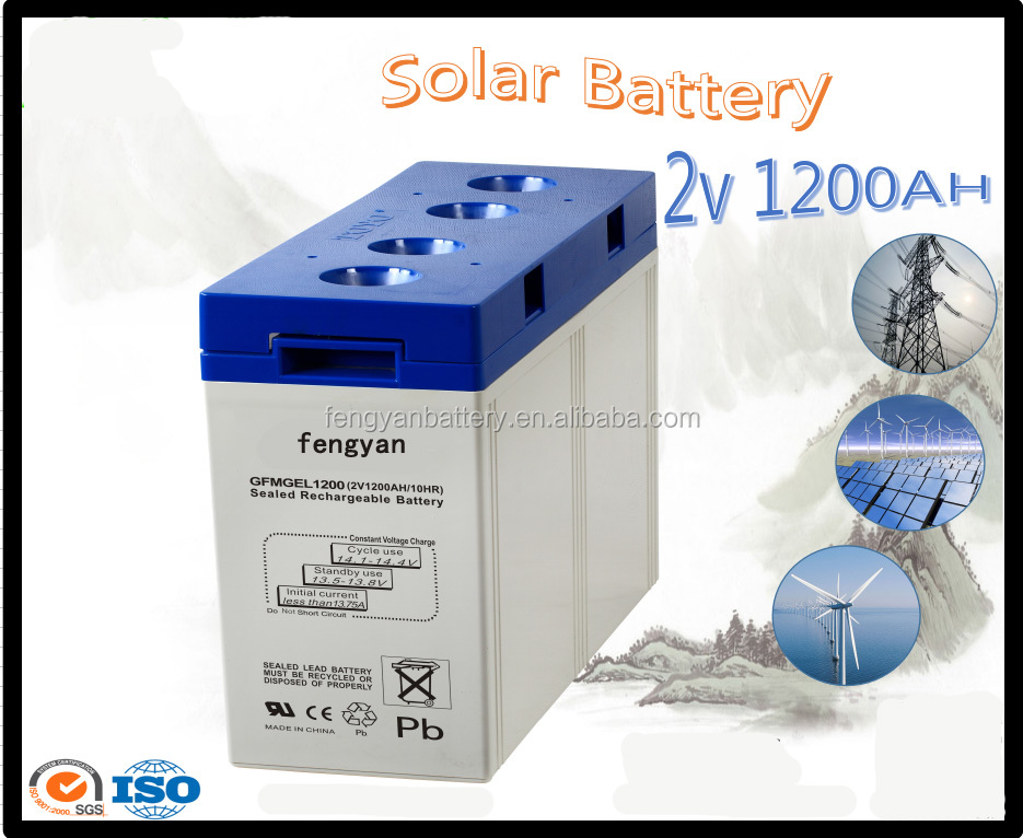 Power failure protection battery for ups 2v 1200ah car battery