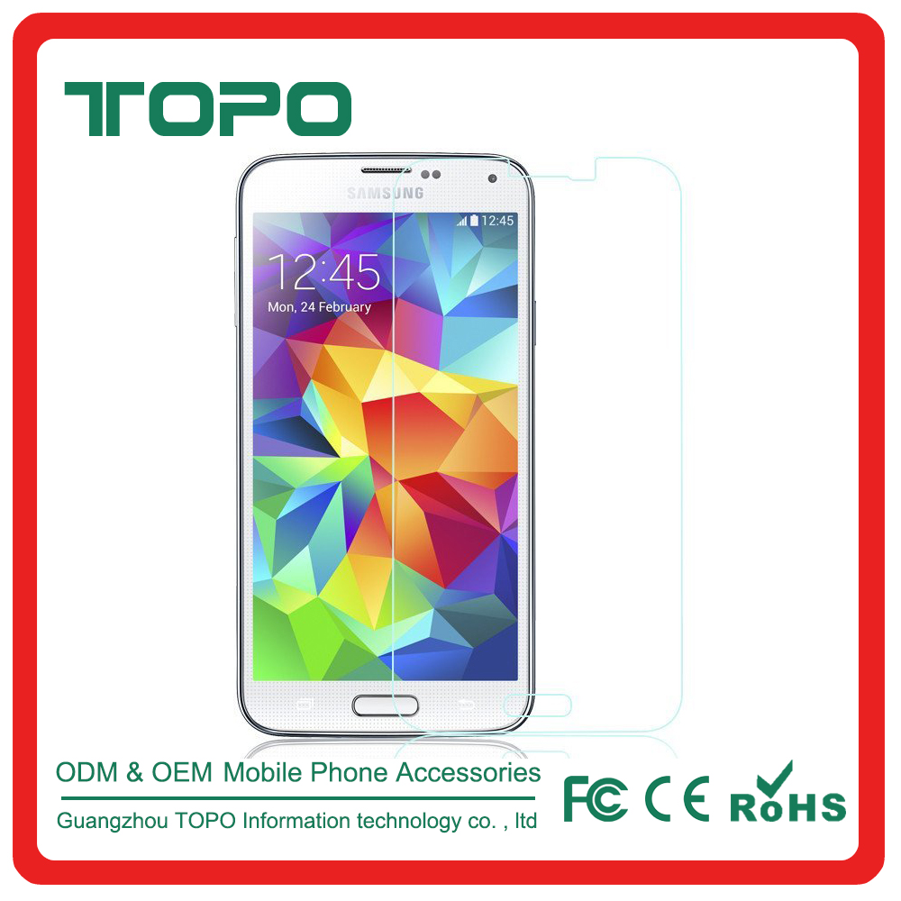 Crystal Clear Screen Protector Drop Protect tempered glass Ultra Slim Premium Quality for Samsung galaxy s5