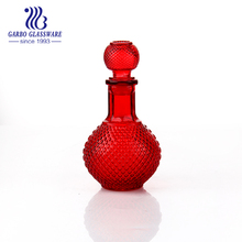 500ml red colored glass wine decanter