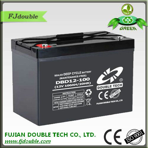 solar dry cell battery 12v 100ah DEEP CYCLE BATTERY