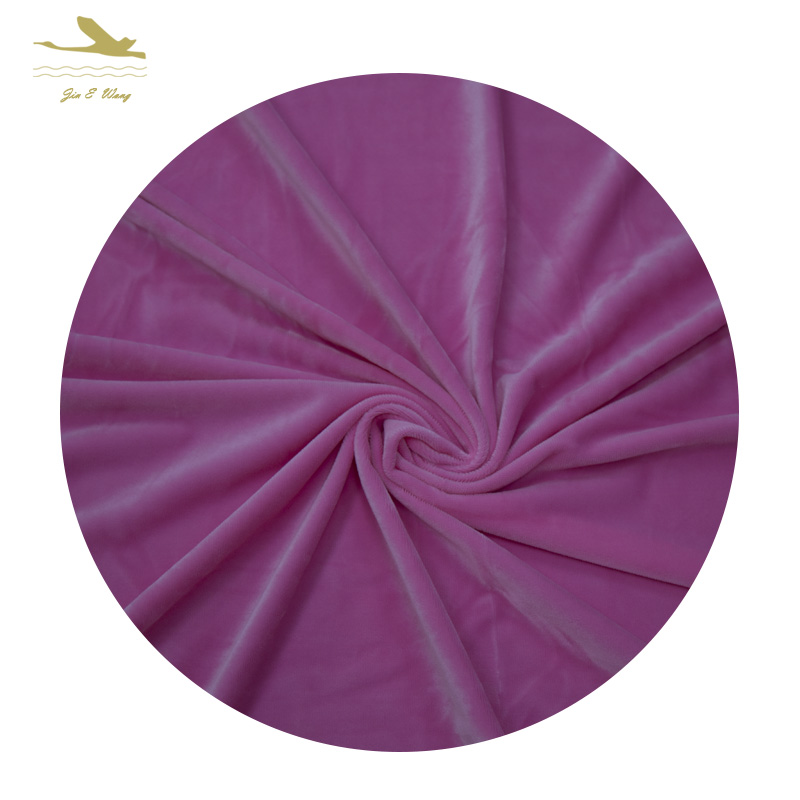 Solid reputation polyester spandex fabric velour for sale