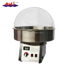 Stainless steel professional digital control cotton candy machine with bubble cover